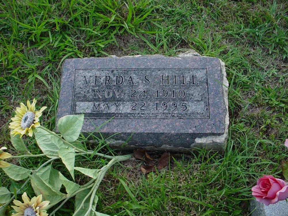 Verda Schmidt Hill Headstone Photo, Hillcrest Cemetery, Callaway County genealogy