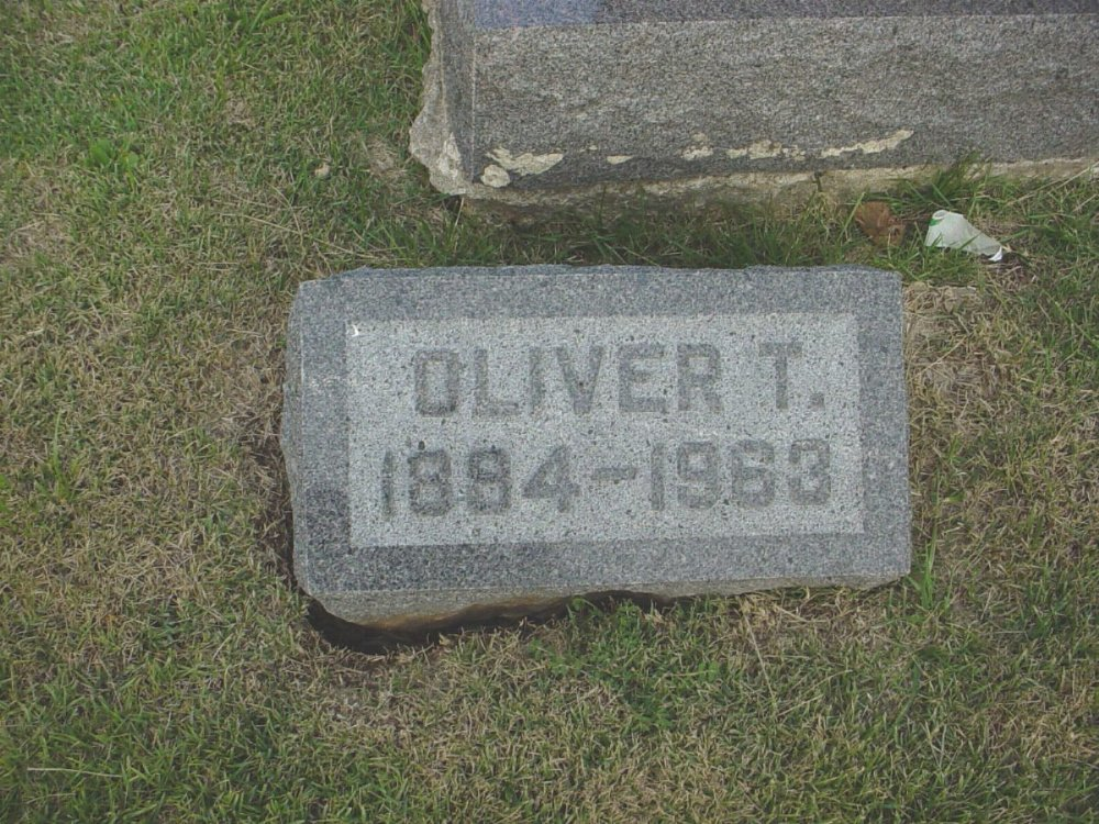Oliver T. Millard Headstone Photo, Hillcrest Cemetery, Callaway County genealogy
