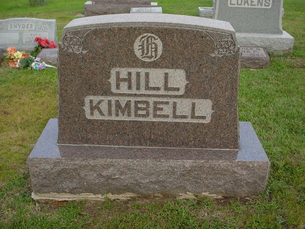Hill - Kimbell Headstone Photo, Hillcrest Cemetery, Callaway County genealogy