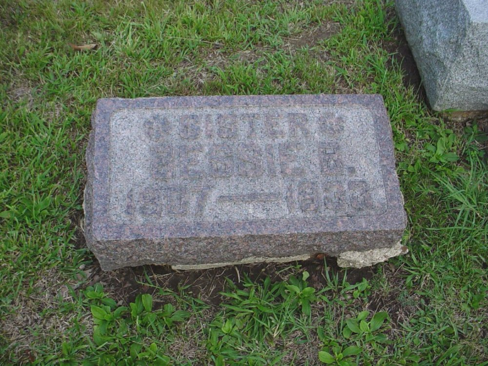 Bessie B. Hill Headstone Photo, Hillcrest Cemetery, Callaway County genealogy