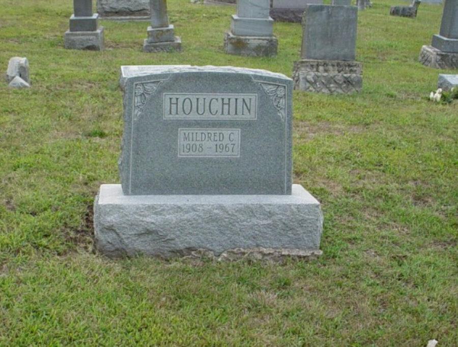 Mildred C. Houchin Headstone Photo, Hillcrest Cemetery, Callaway County genealogy