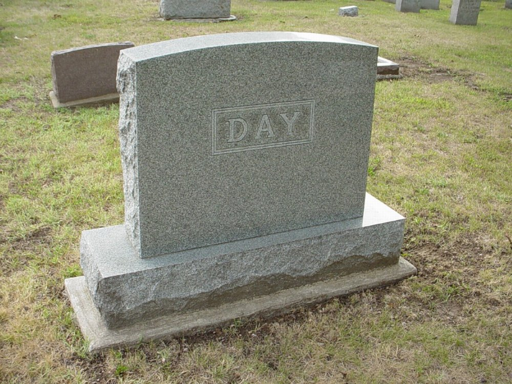 Day family Headstone Photo, Hillcrest Cemetery, Callaway County genealogy