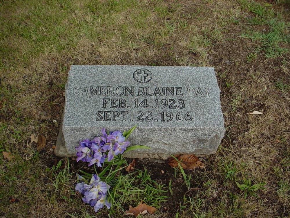 Cameron Blaine Day Headstone Photo, Hillcrest Cemetery, Callaway County genealogy