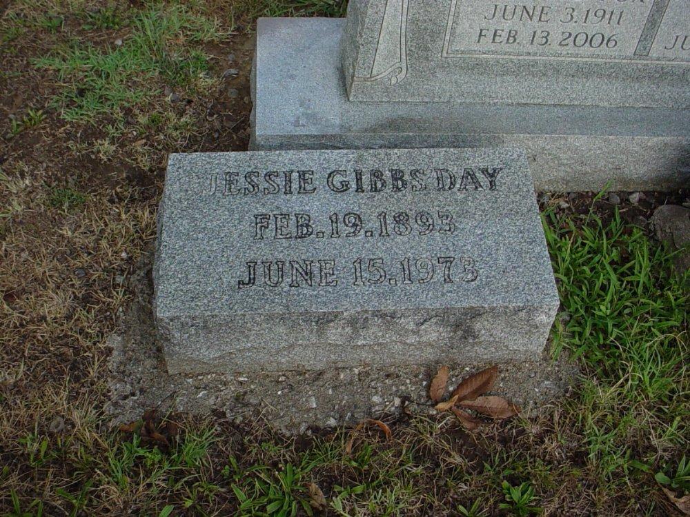 Jessie Gibbs Day Headstone Photo, Hillcrest Cemetery, Callaway County genealogy