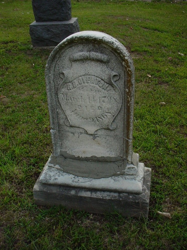 Reuben B. Overton Headstone Photo, Hillcrest Cemetery, Callaway County genealogy