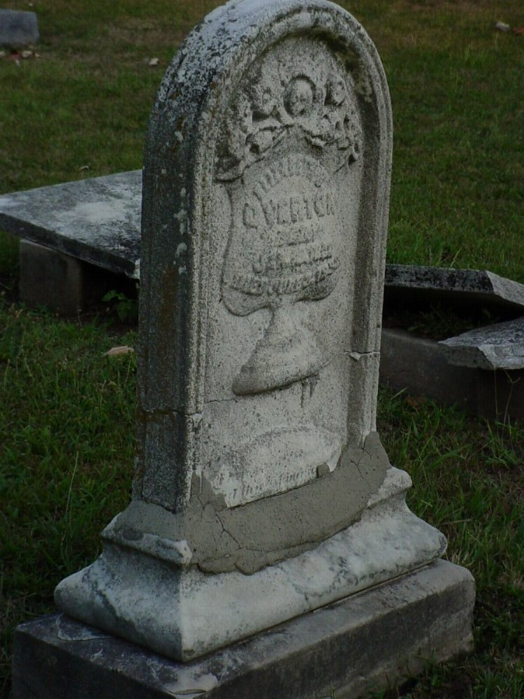 Elizabeth B. Wright Overton Headstone Photo, Hillcrest Cemetery, Callaway County genealogy