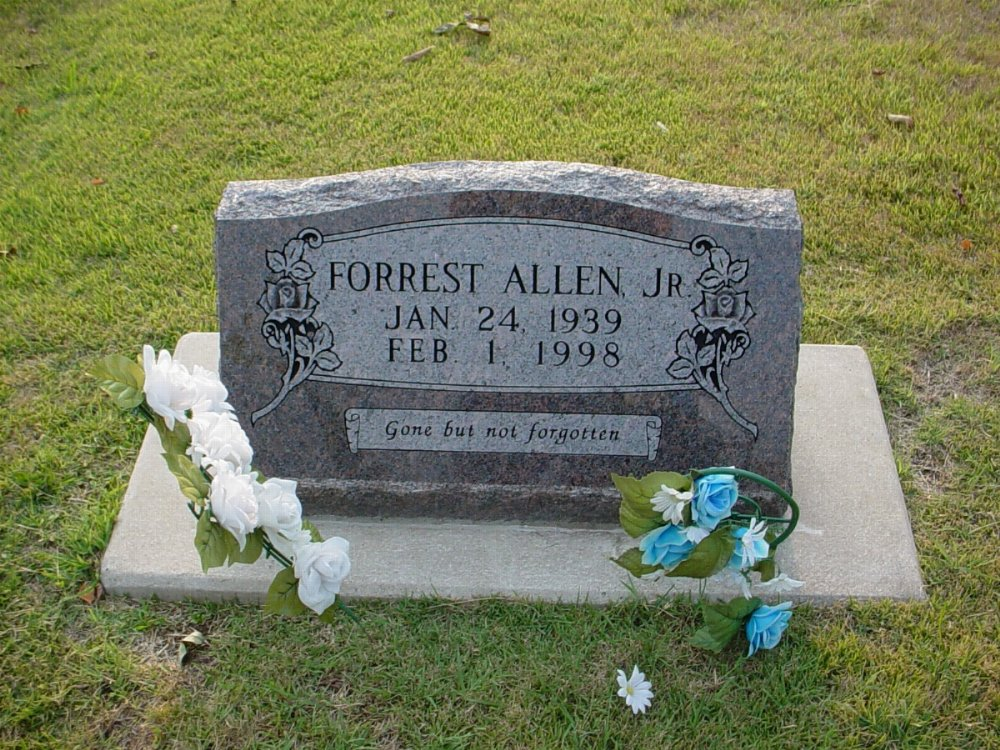Forrest A. Allen Jr. Headstone Photo, Hillcrest Cemetery, Callaway County genealogy