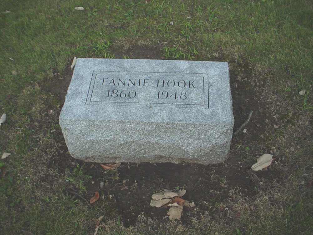 Fannie Durr Hook Headstone Photo, Hillcrest Cemetery, Callaway County genealogy