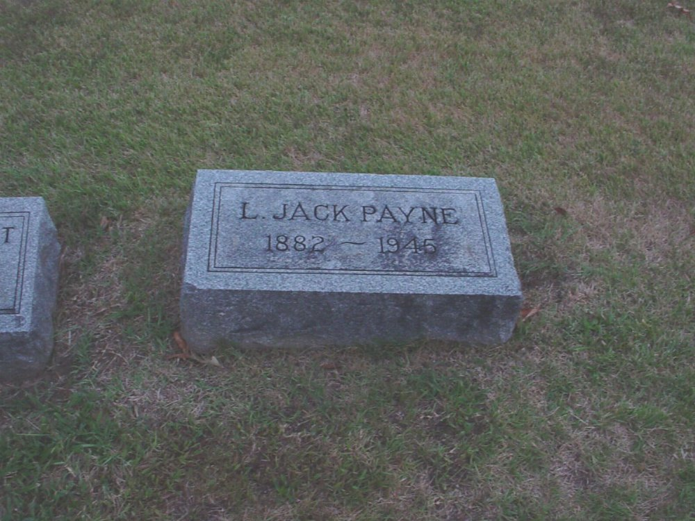 Lorenzo Jackson Payne Headstone Photo, Hillcrest Cemetery, Callaway County genealogy