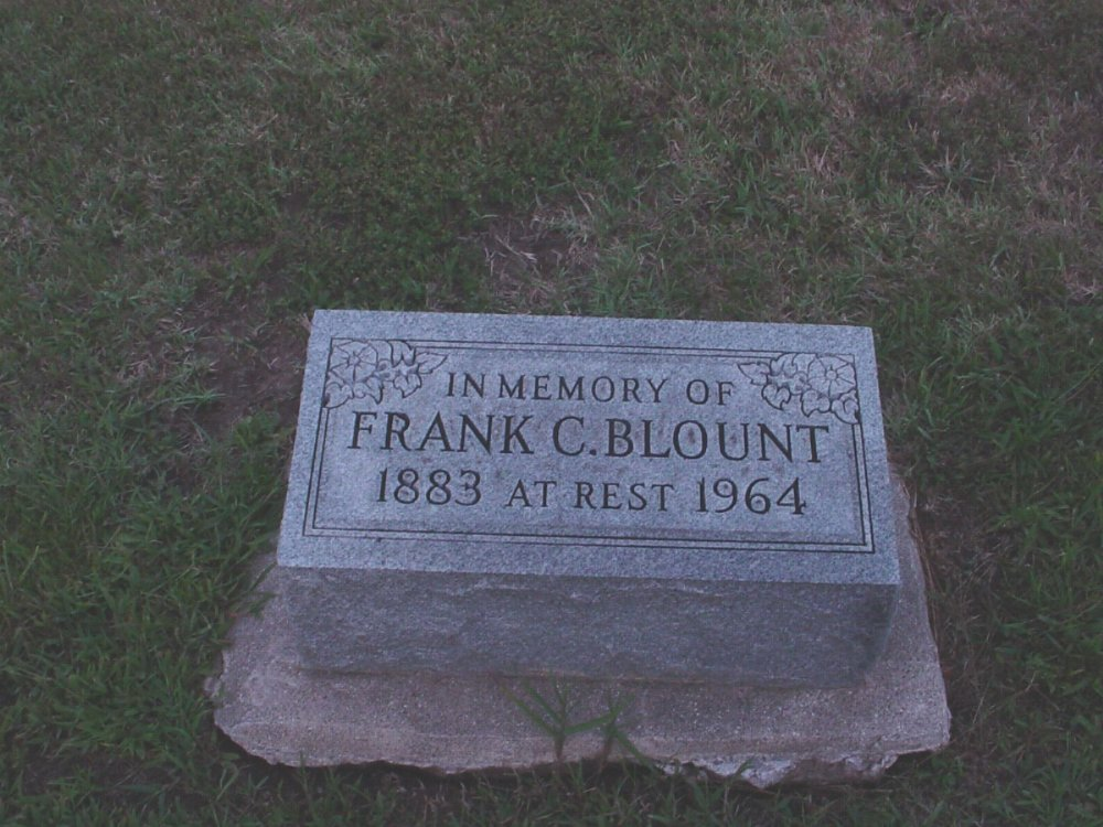 Franklin C. Blount Headstone Photo, Hillcrest Cemetery, Callaway County genealogy