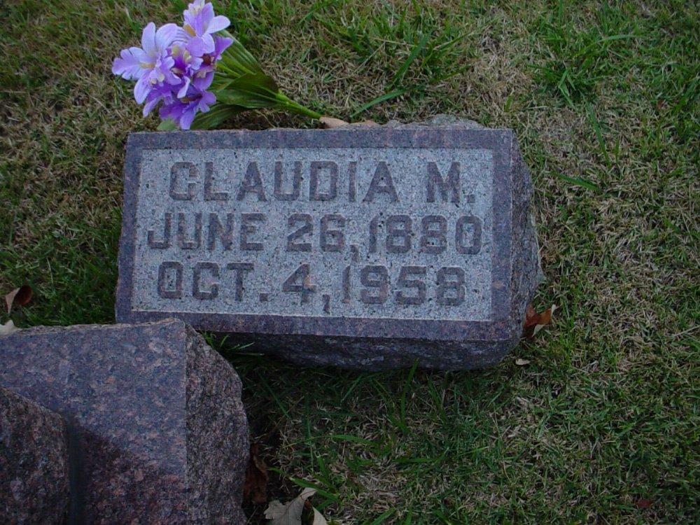 Claudia May Johnson Davis Headstone Photo, Hillcrest Cemetery, Callaway County genealogy