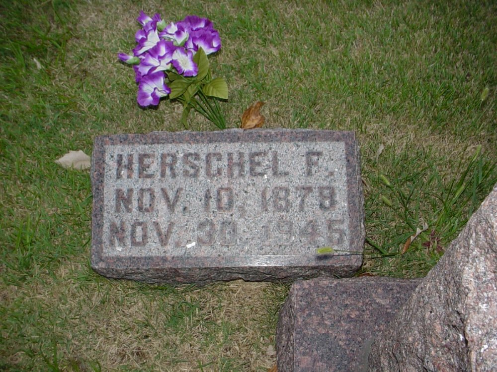 Herschel Franklin Davis Headstone Photo, Hillcrest Cemetery, Callaway County genealogy