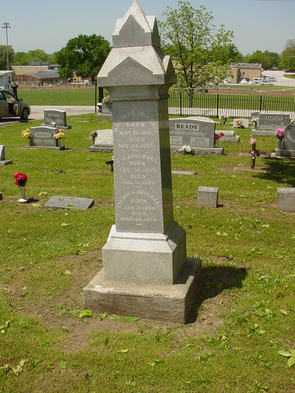 Martha, T.J., and Steven Boulware Headstone Photo, Hillcrest Cemetery, Callaway County genealogy