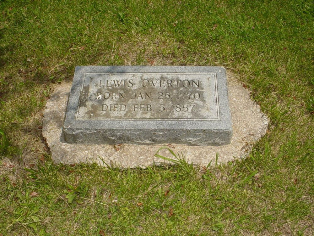 Lewis Overton Headstone Photo, Hillcrest Cemetery, Callaway County genealogy