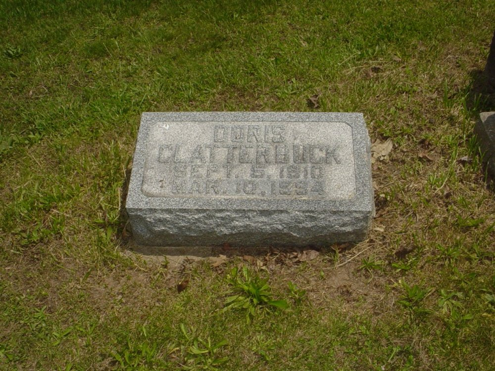 Doris Bruner Clatterbuck Headstone Photo, Hillcrest Cemetery, Callaway County genealogy