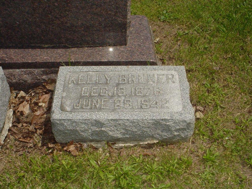 Thomas Kelly Bruner Headstone Photo, Hillcrest Cemetery, Callaway County genealogy