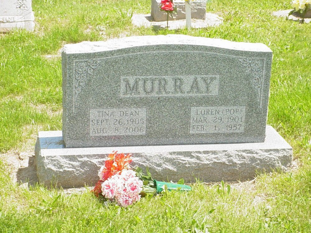 Loren Murray and Tina Dean Headstone Photo, Hillcrest Cemetery, Callaway County genealogy