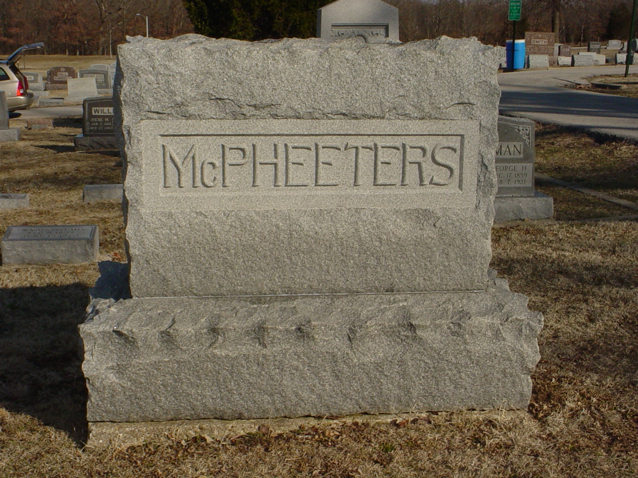 McPheeters family Headstone Photo, Hillcrest Cemetery, Callaway County genealogy