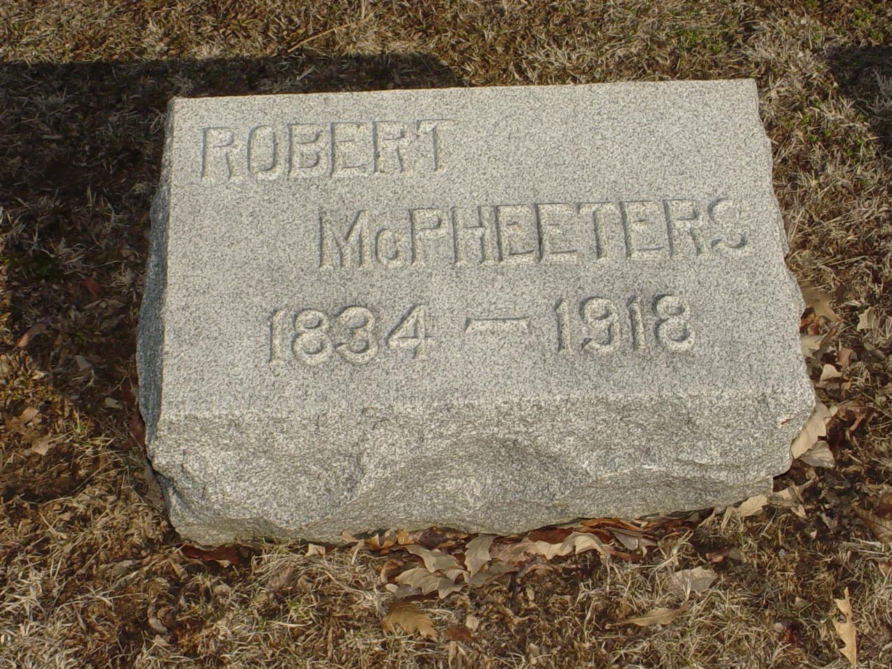 Robert McPheeters Headstone Photo, Hillcrest Cemetery, Callaway County genealogy