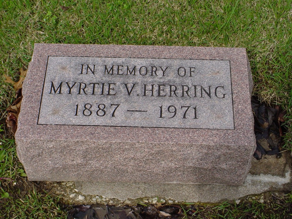 Myrtle Qualls Herring Headstone Photo, Hillcrest Cemetery, Callaway County genealogy