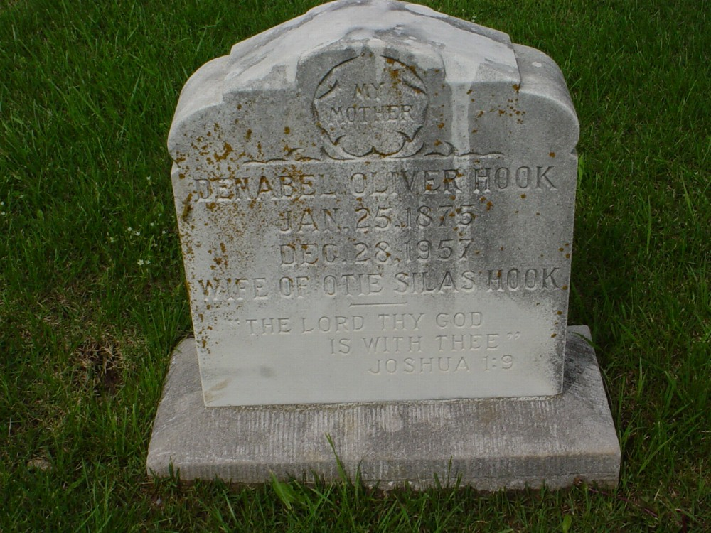 Osmable Oliver Hook Headstone Photo, Hillcrest Cemetery, Callaway County genealogy