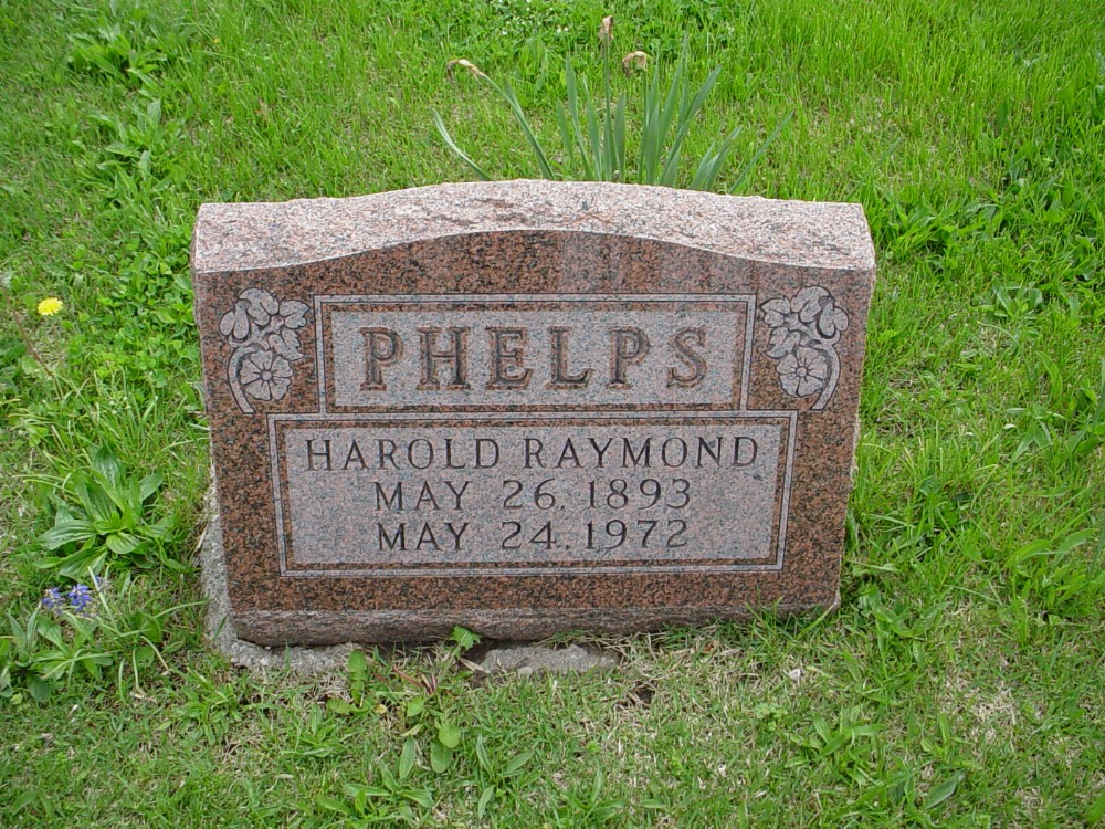 Harold Raymond Phelps Headstone Photo, Hillcrest Cemetery, Callaway County genealogy