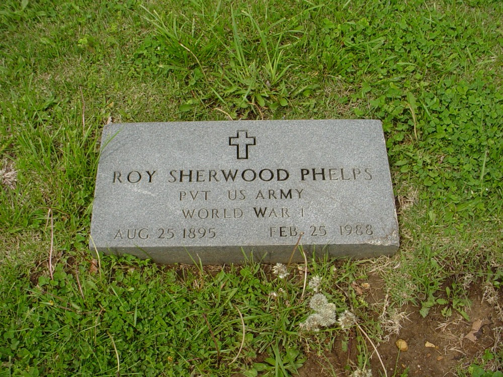 Roy Sherwood Phelps Headstone Photo, Hillcrest Cemetery, Callaway County genealogy