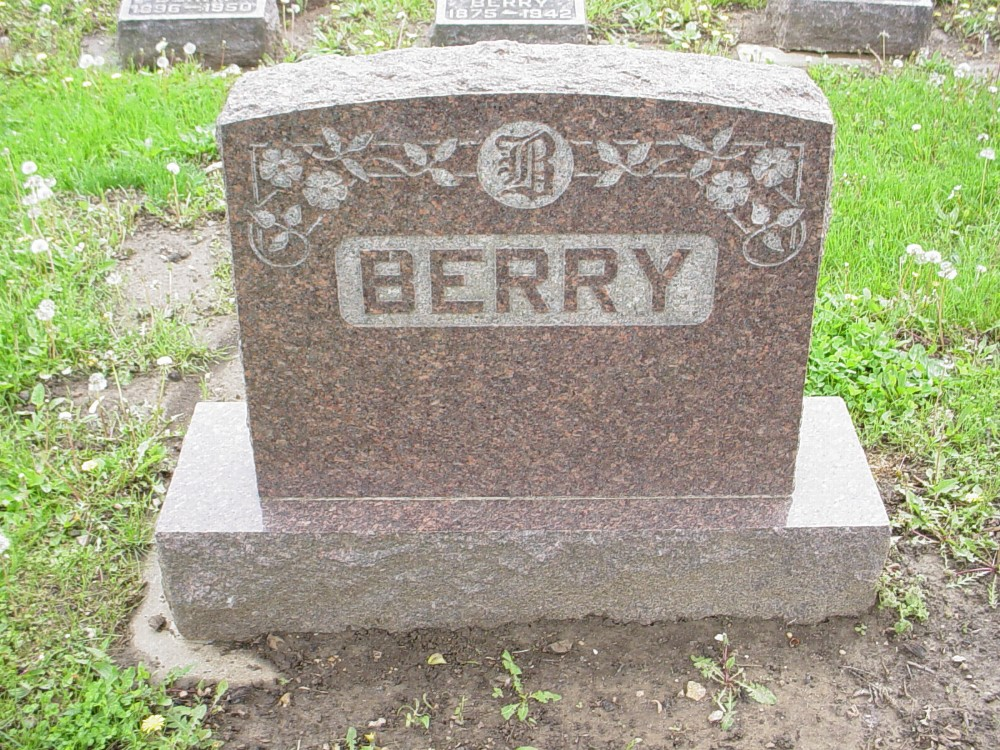 Berry family Headstone Photo, Hillcrest Cemetery, Callaway County genealogy