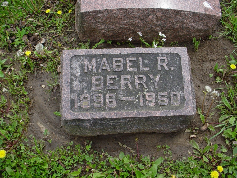 Mabel R. Berry Headstone Photo, Hillcrest Cemetery, Callaway County genealogy