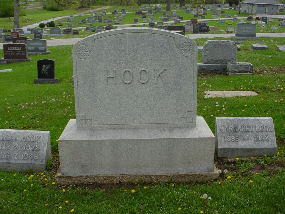 Hook family Headstone Photo, Hillcrest Cemetery, Callaway County genealogy