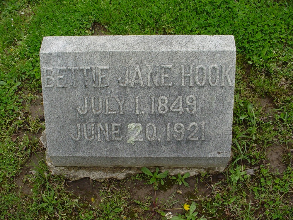 Elizabeth J. Herring Hook Headstone Photo, Hillcrest Cemetery, Callaway County genealogy