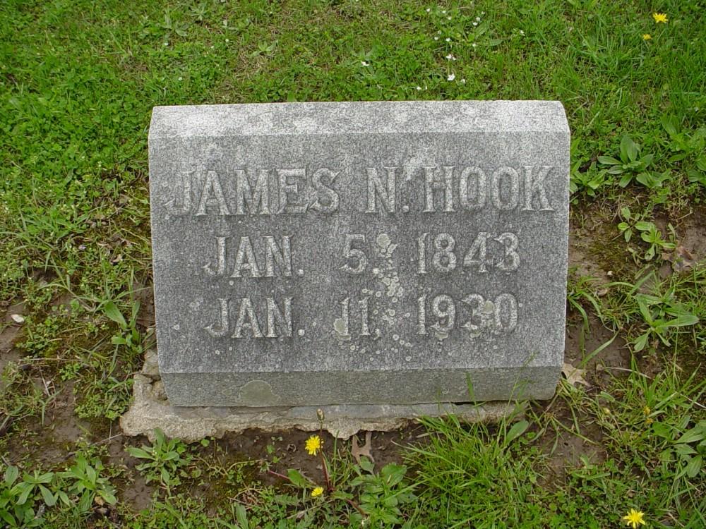 James Newland Hook Headstone Photo, Hillcrest Cemetery, Callaway County genealogy