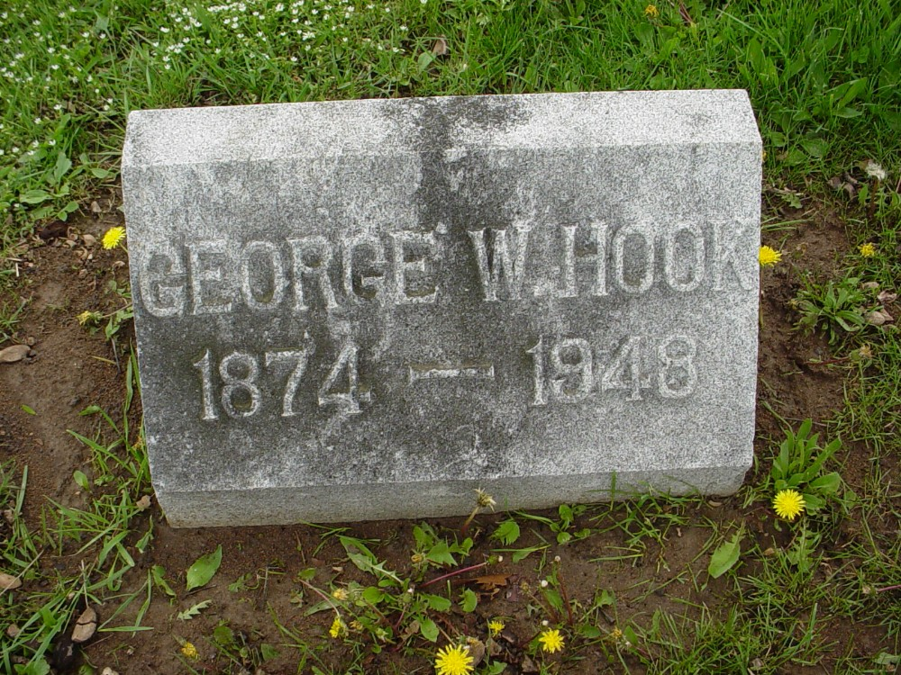 George Woodson Hook Headstone Photo, Hillcrest Cemetery, Callaway County genealogy