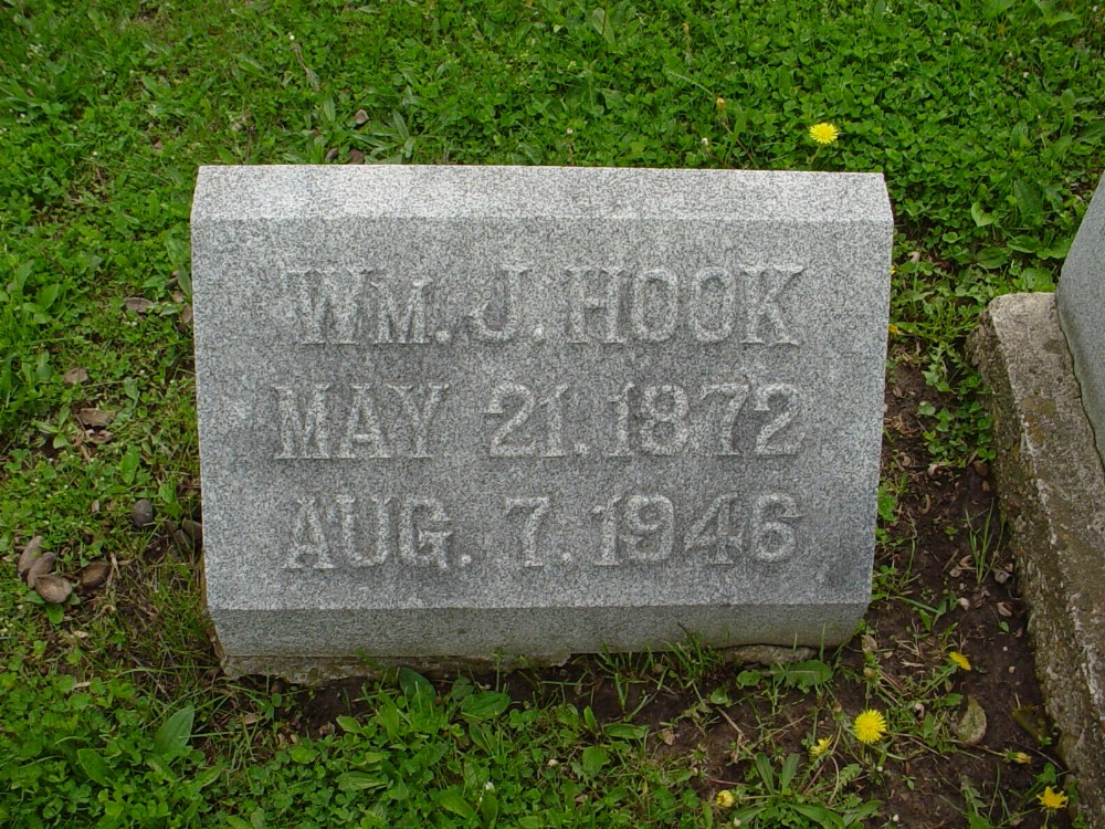 William J. Hook Headstone Photo, Hillcrest Cemetery, Callaway County genealogy