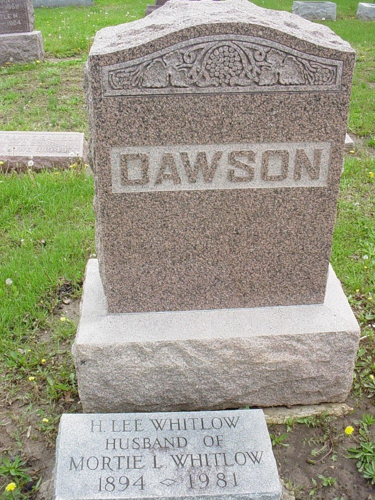 Dawson family Headstone Photo, Hillcrest Cemetery, Callaway County genealogy