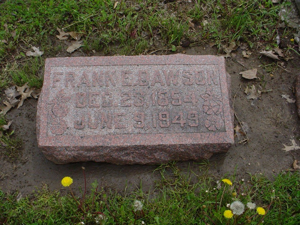 Frank Everett Dawson Headstone Photo, Hillcrest Cemetery, Callaway County genealogy