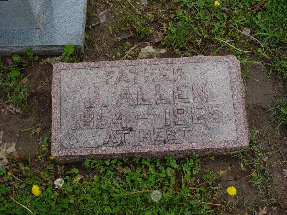 James Allen Dawson Headstone Photo, Hillcrest Cemetery, Callaway County genealogy