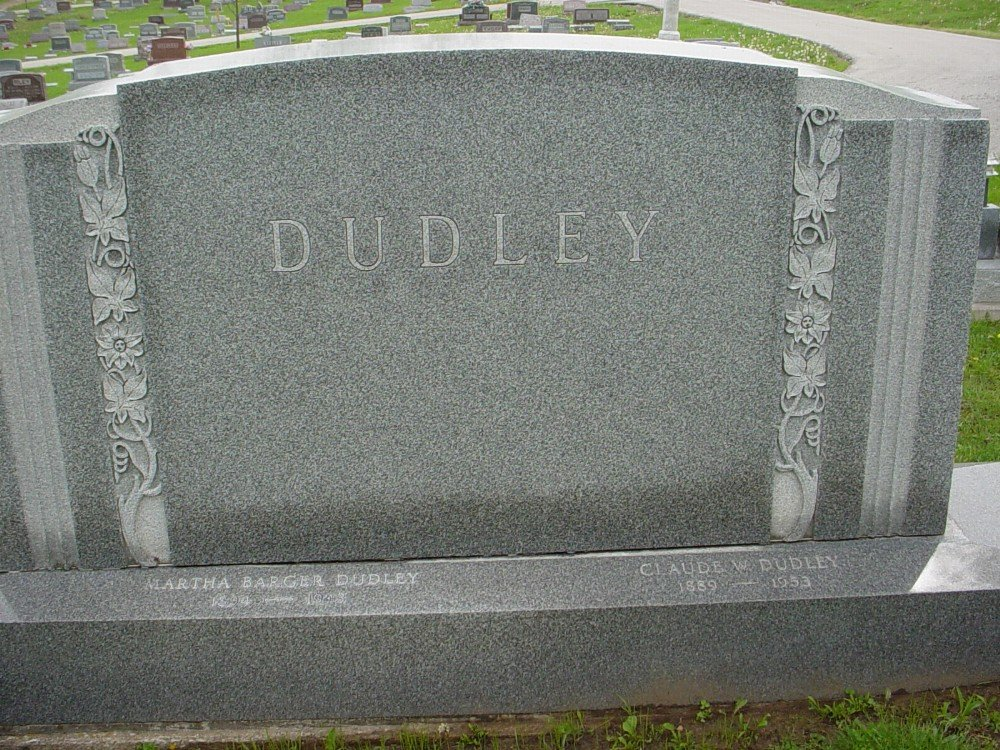 Dudley Family Headstone Photo, Hillcrest Cemetery, Callaway County genealogy