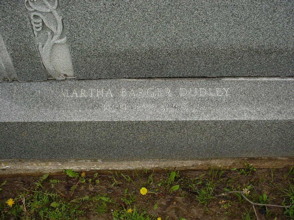 Martha J. Barger Dudley Headstone Photo, Hillcrest Cemetery, Callaway County genealogy