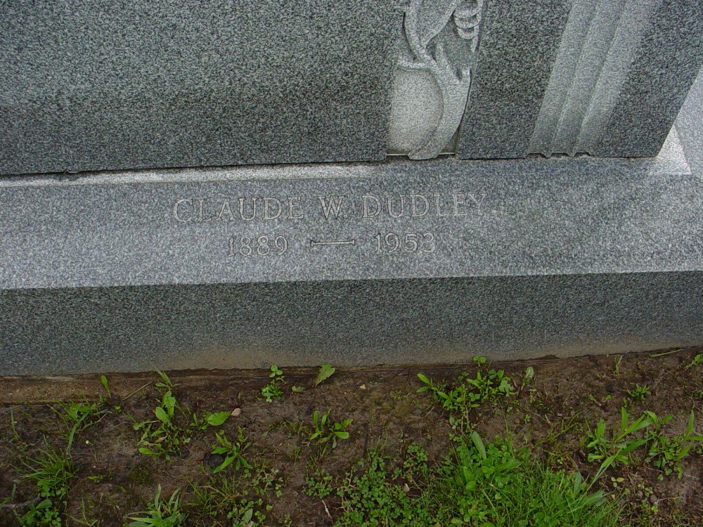 Claude William Dudley Headstone Photo, Hillcrest Cemetery, Callaway County genealogy