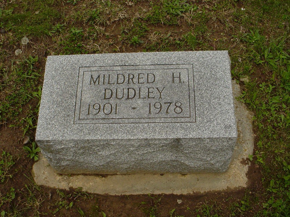 Mildred H. Dudley Headstone Photo, Hillcrest Cemetery, Callaway County genealogy