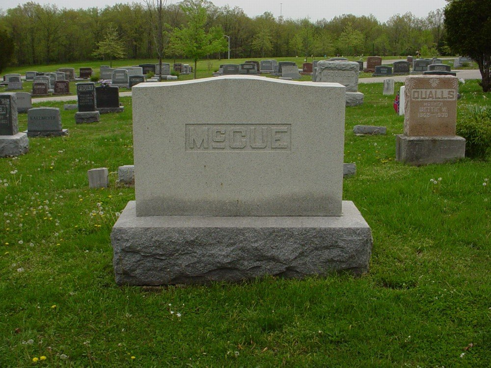McCue family Headstone Photo, Hillcrest Cemetery, Callaway County genealogy