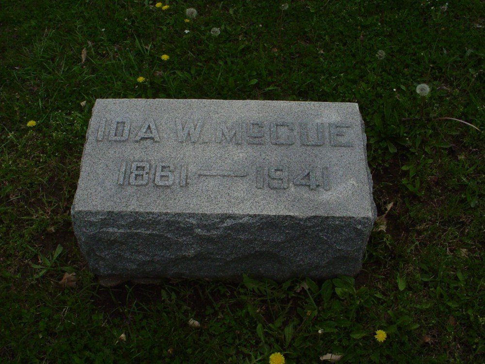 Ida Wheeler McCue Headstone Photo, Hillcrest Cemetery, Callaway County genealogy
