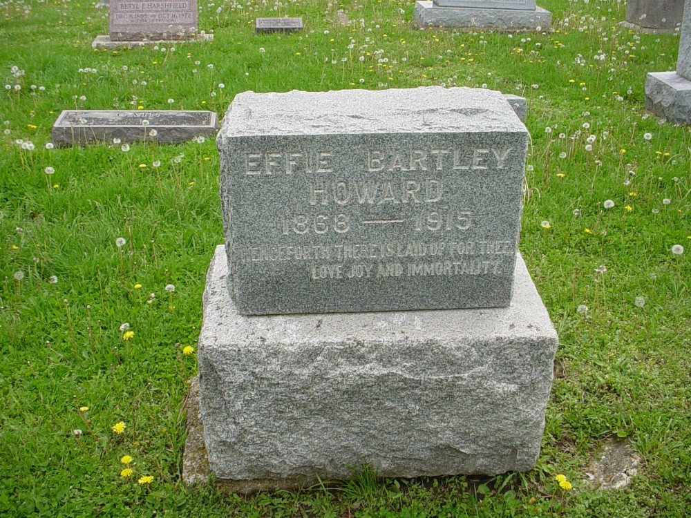 Effie Bartley Howard Headstone Photo, Hillcrest Cemetery, Callaway County genealogy