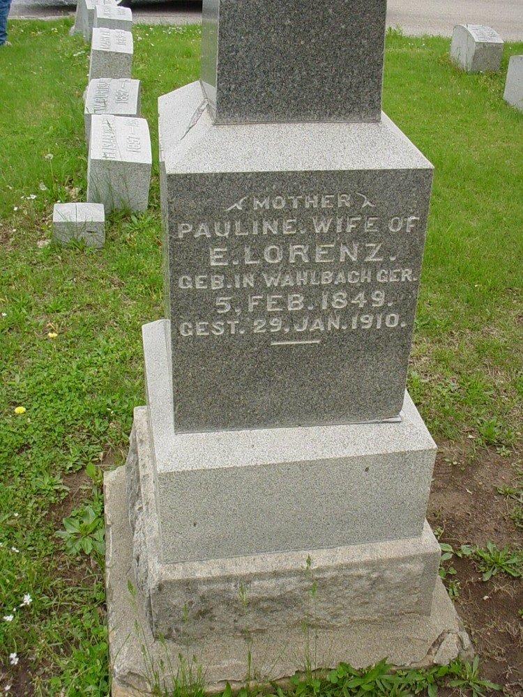 Pauline Lorenz Headstone Photo, Hillcrest Cemetery, Callaway County genealogy