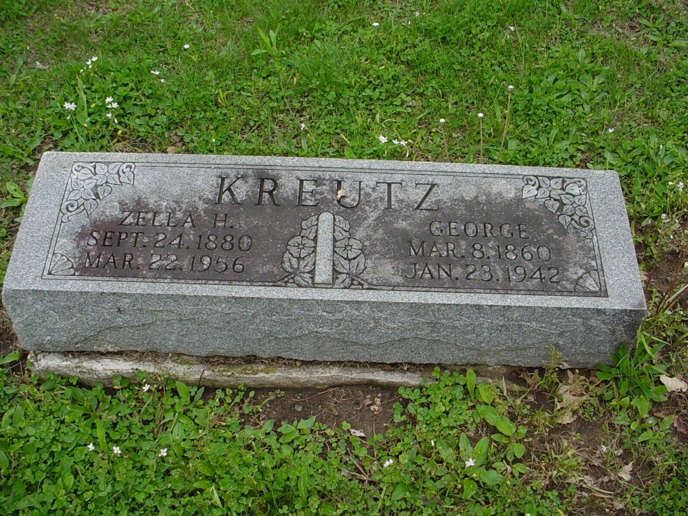 George Kreutz & Zella Holt Headstone Photo, Hillcrest Cemetery, Callaway County genealogy