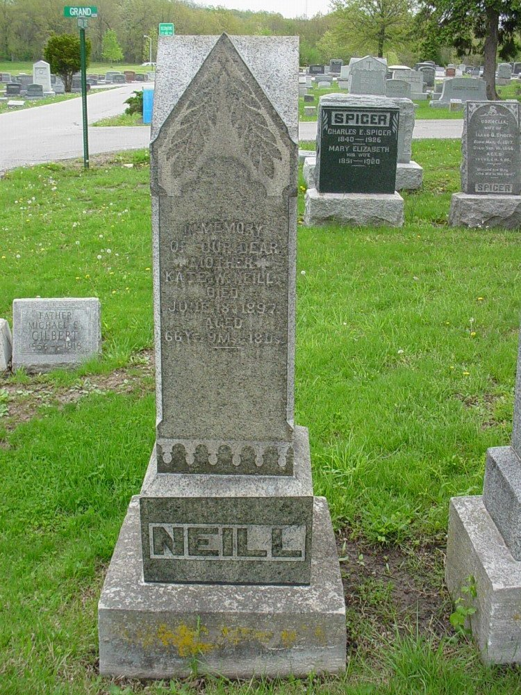 Kate W. Neill Headstone Photo, Hillcrest Cemetery, Callaway County genealogy