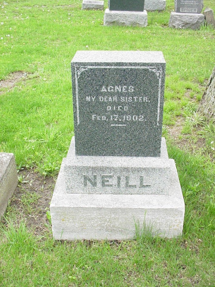 Agnes Neill Headstone Photo, Hillcrest Cemetery, Callaway County genealogy