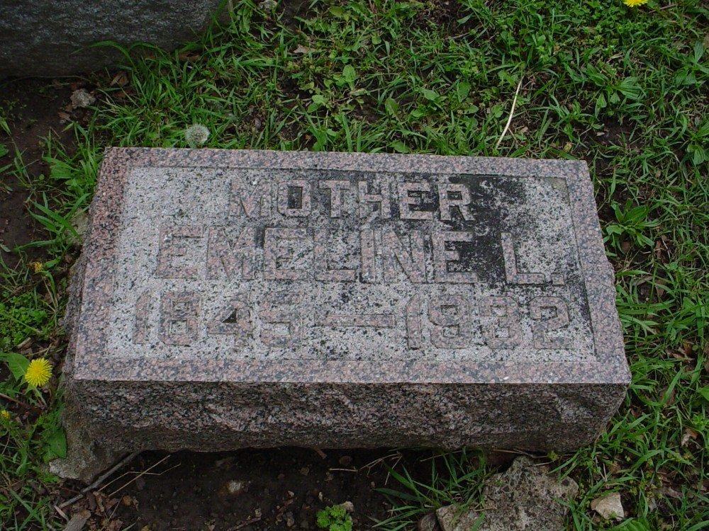 Emeline L. Smith Owen Headstone Photo, Hillcrest Cemetery, Callaway County genealogy