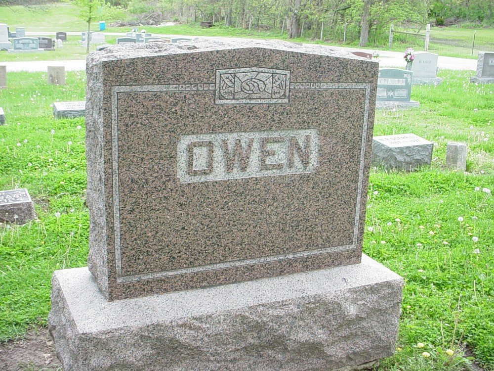 Owen family Headstone Photo, Hillcrest Cemetery, Callaway County genealogy